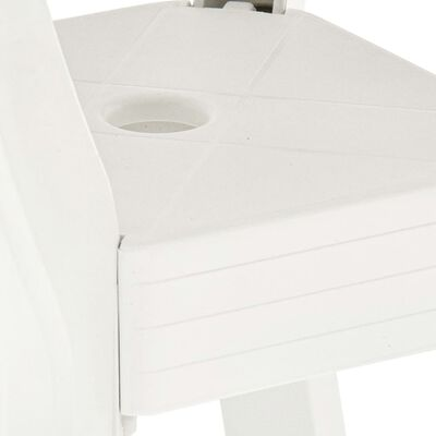 vidaXL Masă de bistro, alb, 70 x 70 x 72 cm, plastic