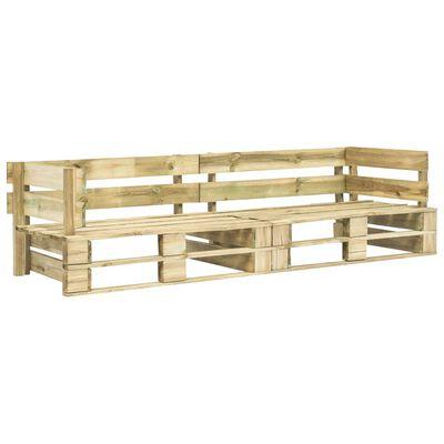 vidaXL Canapea de grădină cu 2 locuri din paleți, lemn