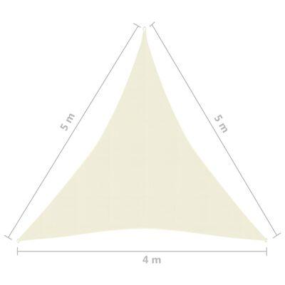 vidaXL Pânză parasolar, crem, 4x5x5 m, HDPE, 160 g/m²