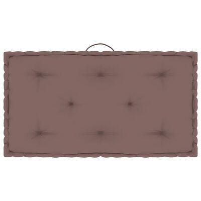 vidaXL Pernă de podea din paleți, gri taupe, 73 x 40 x 7 cm, bumbac