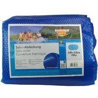Summer Fun Prelată piscină solară de vară albastru 600x320 cm PE oval
