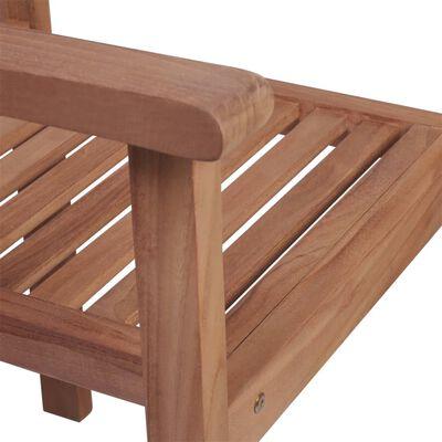 vidaXL Scaune de grădină cu perne, 4 buc, model frunze, lemn masiv tec
