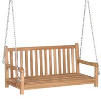 vidaXL Bancă balansoar, maro, 120 x 60 x 57,5 cm, lemn masiv de tec