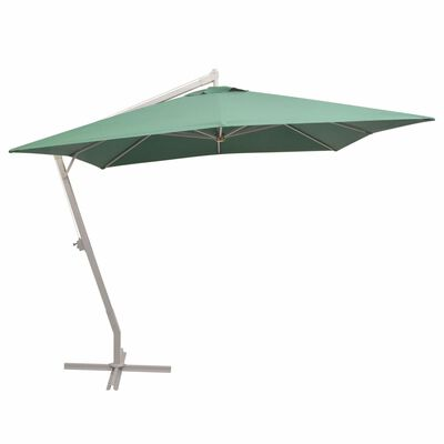 vidaXL Umbrelă suspendată, stâlp de aluminiu, 300x300 cm, verde