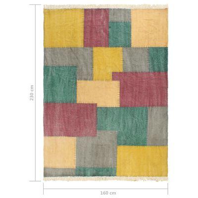 vidaXL Covor Kilim țesut manual, multicolor, 160 x 230 cm, bumbac