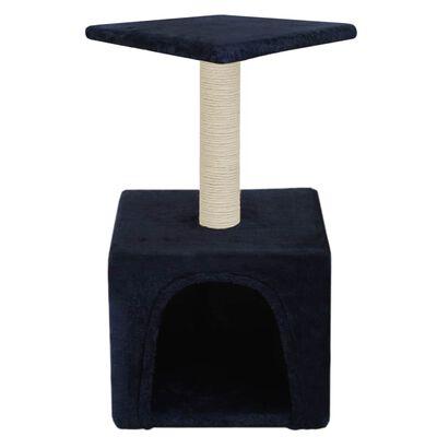vidaXL Ansamblu pisici, stâlpi din funie sisal, 55 cm, albastru închis