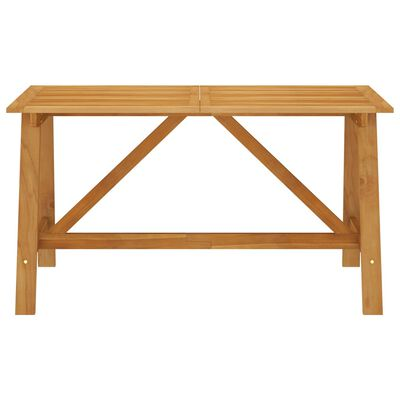 vidaXL Set de masă pentru grădină, 7 piese, maro
