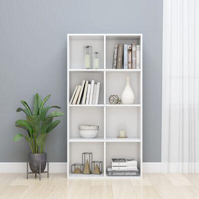 vidaXL Bibliotecă/Servantă, alb lucios, 66 x 30 x 130 cm, PAL