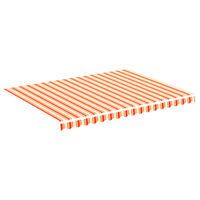 vidaXL Pânză de rezervă copertină, galben și portocaliu, 4x3 m