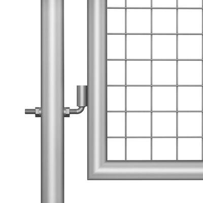 vidaXL Poartă de grădină, argintiu, 105 x 125 cm, oțel galvanizat