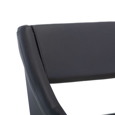 vidaXL Cadru de pat, negru, 90 x 200 cm, piele artificială