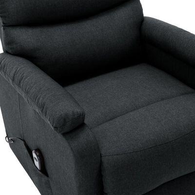 vidaXL Fotoliu TV rabatabil vertical, gri închis, material textil