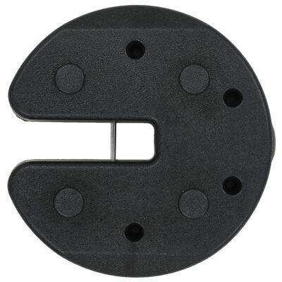 vidaXL Plăci de greutate pavilion, 4 buc., negru, 220 x 30 mm, beton