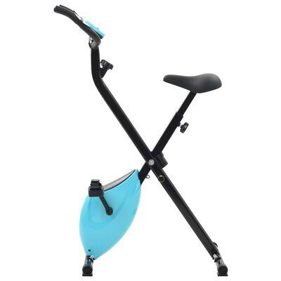vidaXL Bicicletă magnetică X-Bike cu măsurare puls, negru și albastru