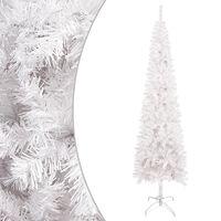 vidaXL Brad de Crăciun artificial subțire, alb, 120 cm