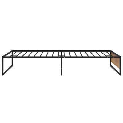 vidaXL Cadru de pat, negru, 90 x 200 cm, metal
