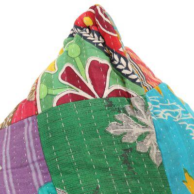 vidaXL Canapea tip sac, multicolor, material textil, petice