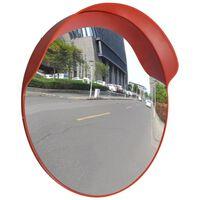 Oglindă de trafic convexă, portocaliu, 60 cm, plastic PC, de exterior