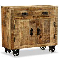 vidaXL Comodă cu 2 sertare și 1 dulap, lemn masiv de mango