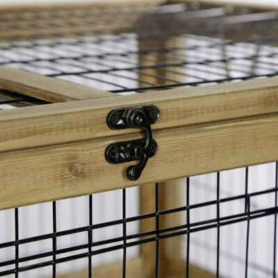 Kerbl Cușcă animale mici pentru interior, maro, 116 x 75 x 70 cm, lemn