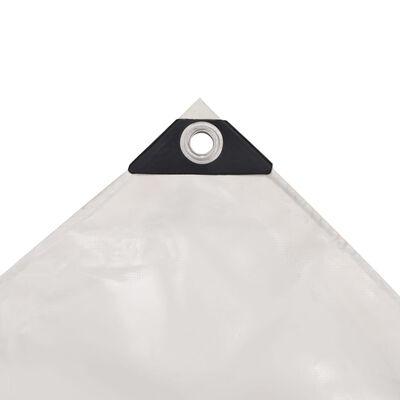 vidaXL Prelată, alb, 6 x 8 m, 650 g/m²