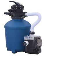 vidaXL Pompă filtru cu nisip, cu temporizator, 530 W, 10980 L/h