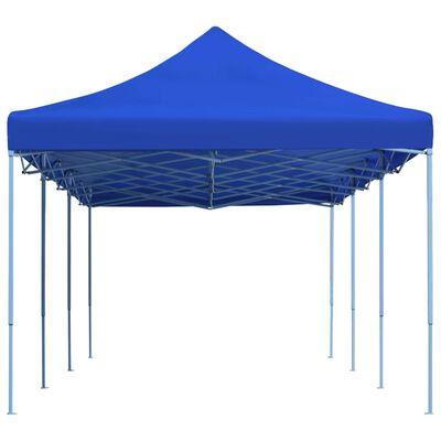 vidaXL Cort de petrecere pliabil, albastru, 3 x 9 m