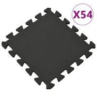 vidaXL Saltele de exerciții, 54 buc., negru, spumă EVA, 4,86 ㎡