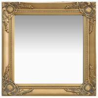 vidaXL Oglindă de perete în stil baroc, auriu, 50 x 50 cm