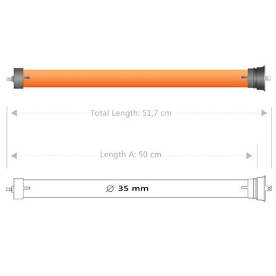 vidaXL Motoare tubulare, 4 buc., 10 Nm