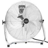 vidaXL Ventilator de podea, 3 viteze, 55 cm, 100 W, crom