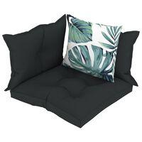 vidaXL Perne de canapea din paleți, 4 buc., antracit, material textil