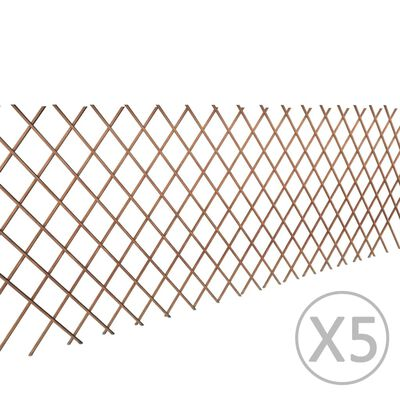 vidaXL Gard cu zăbrele, 5 buc.,180 x 90 cm, salcie