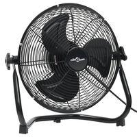 vidaXL Ventilator de podea, 3 viteze, 60 cm, 120 W, negru