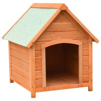vidaXL Cușcă de câine, 72x85x82 cm, lemn masiv de pin și brad