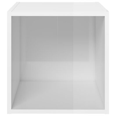 vidaXL Set de dulapuri TV, 5 piese, alb extralucios, PAL
