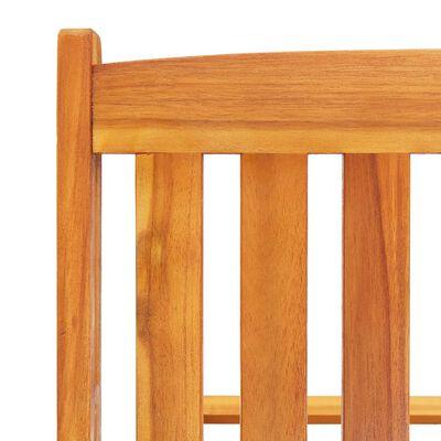 vidaXL Șezlonguri, 2 buc., cu masă și perne, lemn masiv de acacia