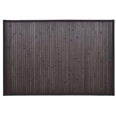 vidaXL Covorașe de baie din bambus, 2 buc., maro închis, 60x90 cm