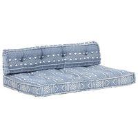 vidaXL Pernă pentru canapea din paleți, indigo, textil, petice