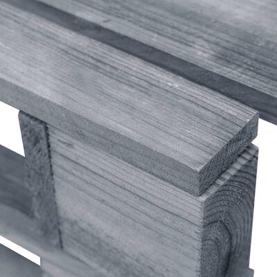vidaXL Taburet din paleți de grădină, gri, lemn de pin tratat
