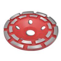 Disc diamantat dublu tip ceașcă pentru șlefuire beton 180 mm