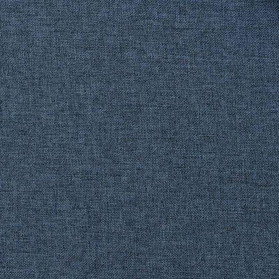 vidaXL Perdele opace aspect pânză cu ocheți 2 buc albastru 140x245 cm