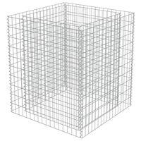 vidaXL Strat înălțat gabion, 90 x 90 x 100 cm, oțel galvanizat