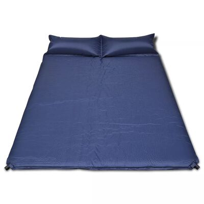 Saltea auto-gonflabilă albastră, 2 persoane 190 x 130 x 5 cm