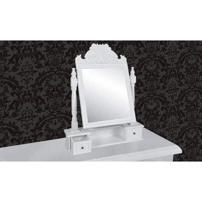 vidaXL Masă de machiaj cu oglindă mobilă dreptunghiulară, MDF