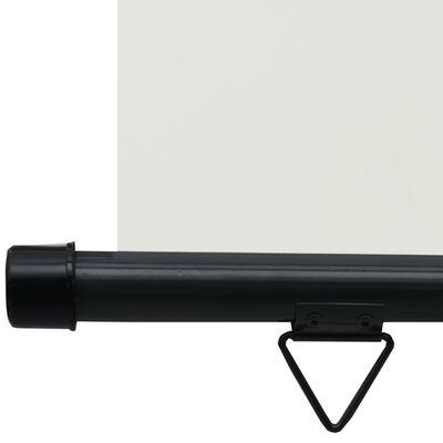 vidaXL Copertină laterală de balcon, crem, 100 x 250 cm
