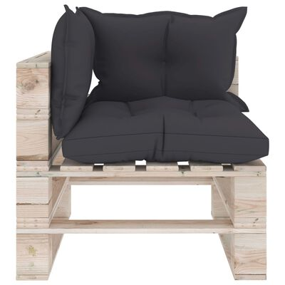 vidaXL Set mobilier grădină din paleți cu perne, 7 piese, lemn de pin