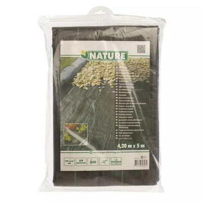 Nature Folie antiburuieni pentru sol, negru, 4,2x5 m