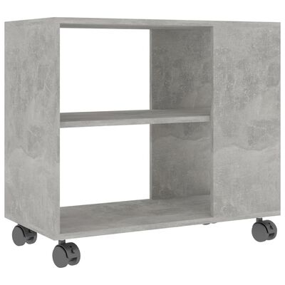 vidaXL Masă laterală, gri beton, 70 x 35 x 55 cm, PAL