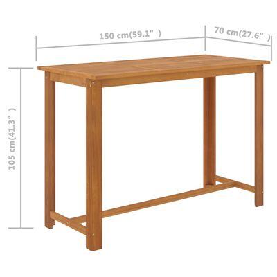 vidaXL Set mobilier bar de grădină, 9 piese, maro